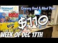 GROCERY HAUL & MEAL PLAN | WALMART | FAMILY OF 4 | 12/17/18