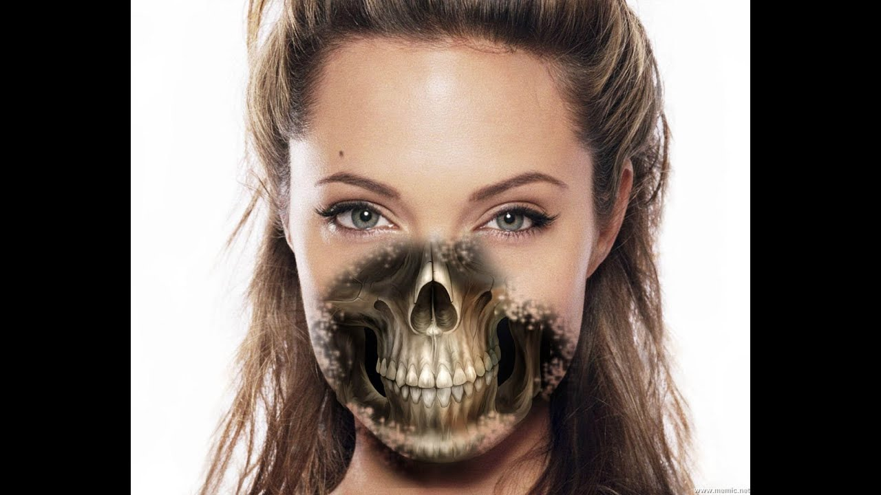 How To Make Half Human║ Half Skull ║ Using Cs5 - YouTube