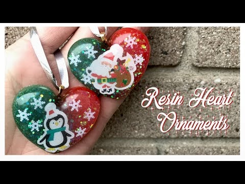 Resin Christmas Heart Ornaments | 12 Days of CRAFTmas | Day 7