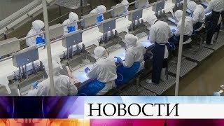 Премьер Дмитрий Медведев прибыл в Мурманскую область с рабочей поездкой и побывал на рыбокомбинате.