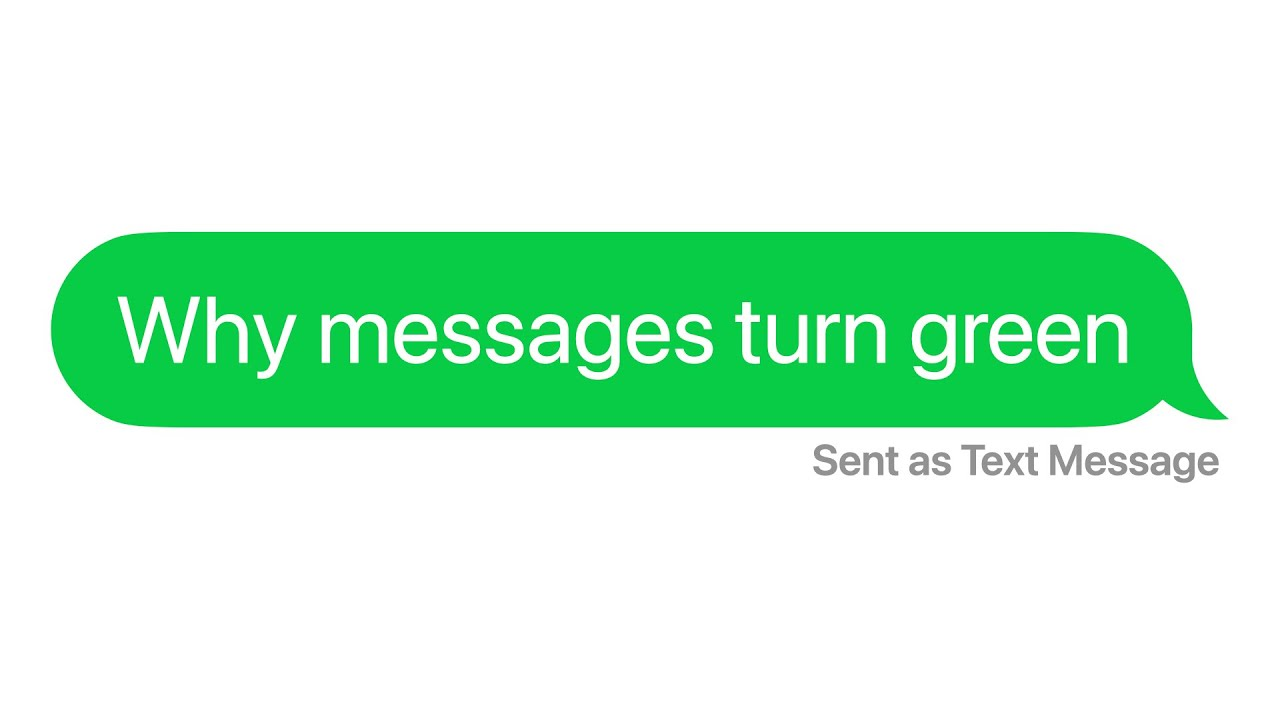 Why iPhone Messages Turn Green