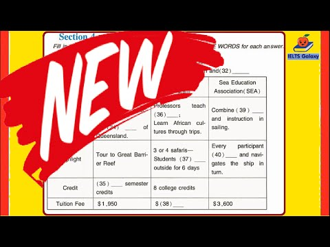 IELTS Listening Test Recent Exam 2016 Included Answers Keys