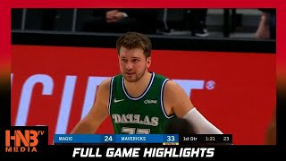 Orlanda Magic vs Dallas Mavericks 1.9.21 | Full Highlights