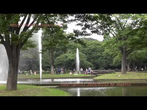 Japan Trip 2014 Tokyo Shibuya Yoyogi-park fountain Shooting models.