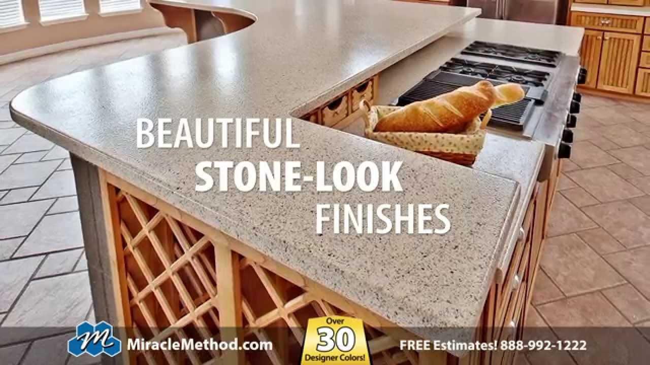 refinishing kitchen countertops dining room light fixtures miracle method countertop youtube