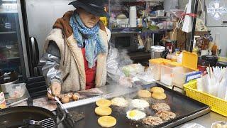 3500원 수제 계란 치즈버거  / 길거리음식 / 서울…