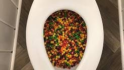Will 50,000 Skittles FLUSH?