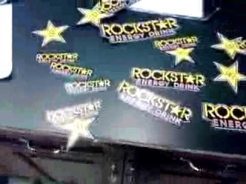 free rockstar energy stickers unboxing