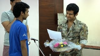 Neil Bhatt at a College Event as a Judge - Exclusive