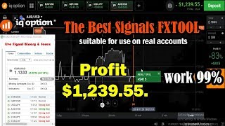 The Best Signals FXTOOL for IQ Option Real account | profit $1,239.55. best Robot 2018 last version