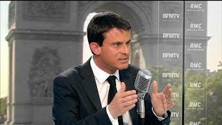 """Valls: """"je ne vais pas me plaindre quand on brandit son drapeau avec plaisir"""" - 02/07"""