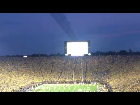 Flyover at Michigan Stadium (The Big House) before Notre Dame game 2013