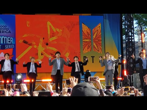 190515 Fire  BTS 방탄소년단 Good Morning America GMA Summer Concert New York