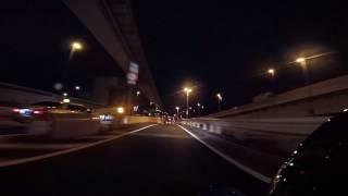 windy night run wind 8m s on tokyo metropolitan expressway bayshore line by h d softail breakout