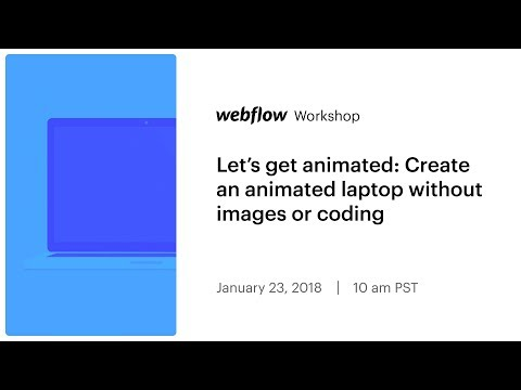 Let's get animated: Create an animated laptop without images or coding