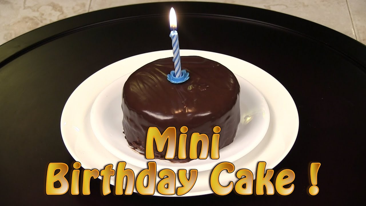 How To Make A Mini Chocolate Birthday Cake YouTube