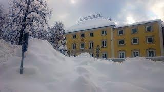Schneechaos im Winter 2019 in Traunstein / Oberbayern