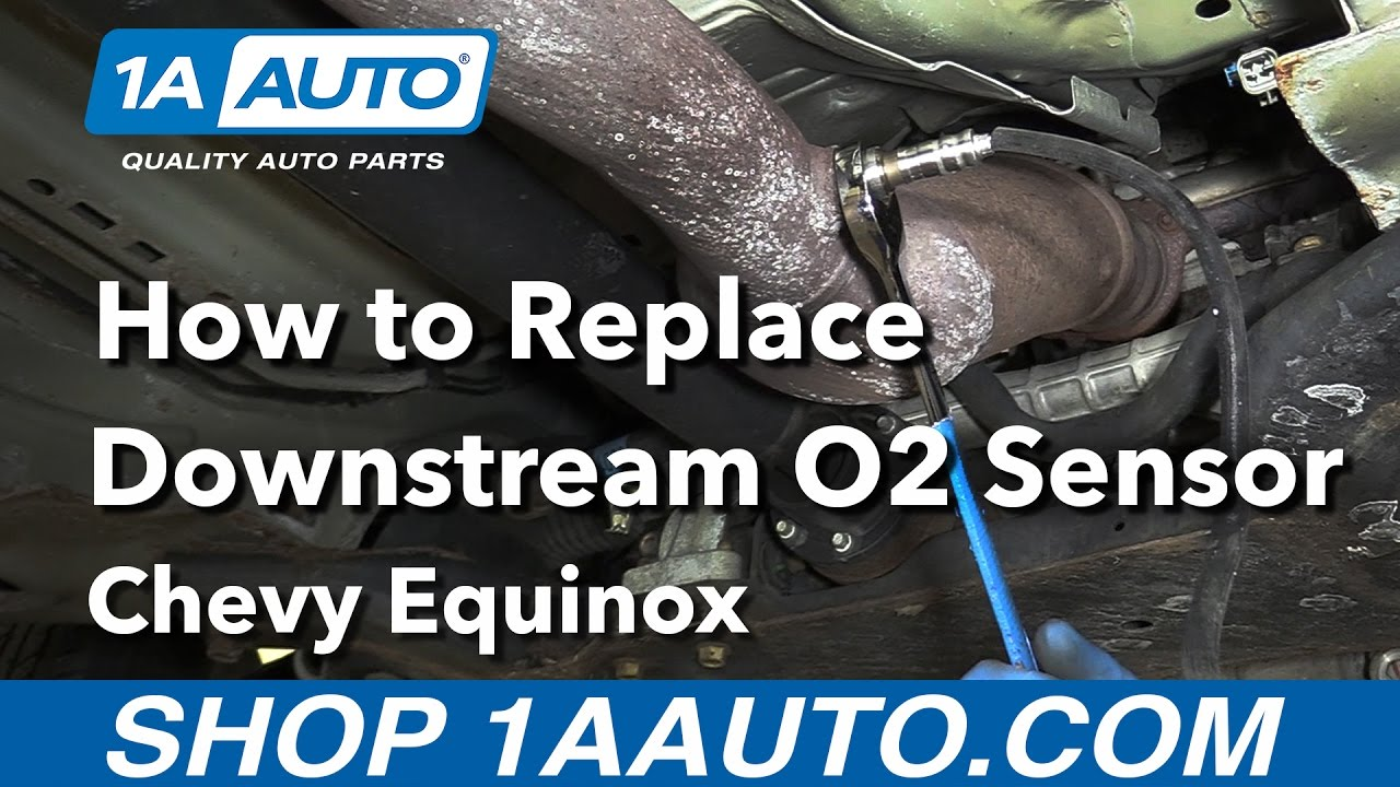 how to replace downstream o2 sensor 08-09 chevy equinox