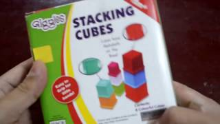 FUNSKOOL GIGGLES STACKING CUBES FOR KIDS UNBOXING