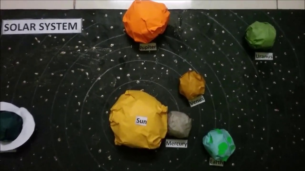How to make Solar System 3D Model YouTube