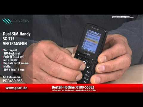 simvalley MOBILE Dual-SIM-Handy SX-315 VERTRAGSFREI