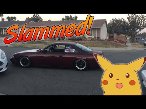 I SLAMMED MY 240SX S14 ON EBAY COILOVERS! (ITS UNDRIVABLE!!)