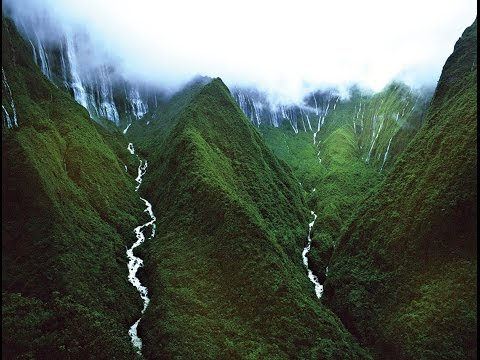 Honokohau Falls | Kukui | Maui | Hawaii |  plunges in two tiers for a total of 1100ft