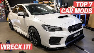 homepage tile video photo for The TOP 7 CAR MODS Everyone Should Do   WRECK IT