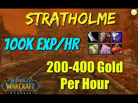 Stratholme Farm / Boost Complete Walkthrough - 400 Gold/140k XP/hr - WoW Classic