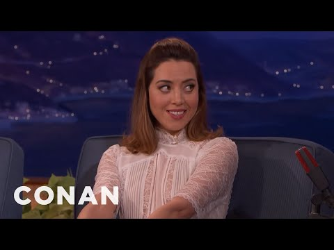 Aubrey Plaza Wants To Be Swaddled Like A Baby   CONAN on TBS