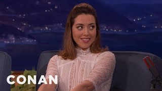 Aubrey Plaza Wants To Be Swaddled Like A Baby  - CONAN on TBS