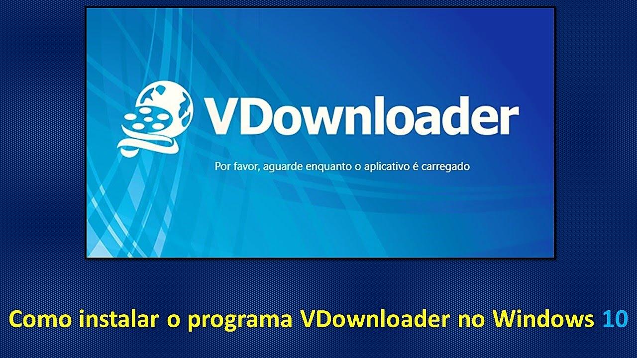 programa vdownloader para