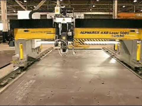 Esab S Alpharex Large Gantry Laser Cutting Machine Youtube