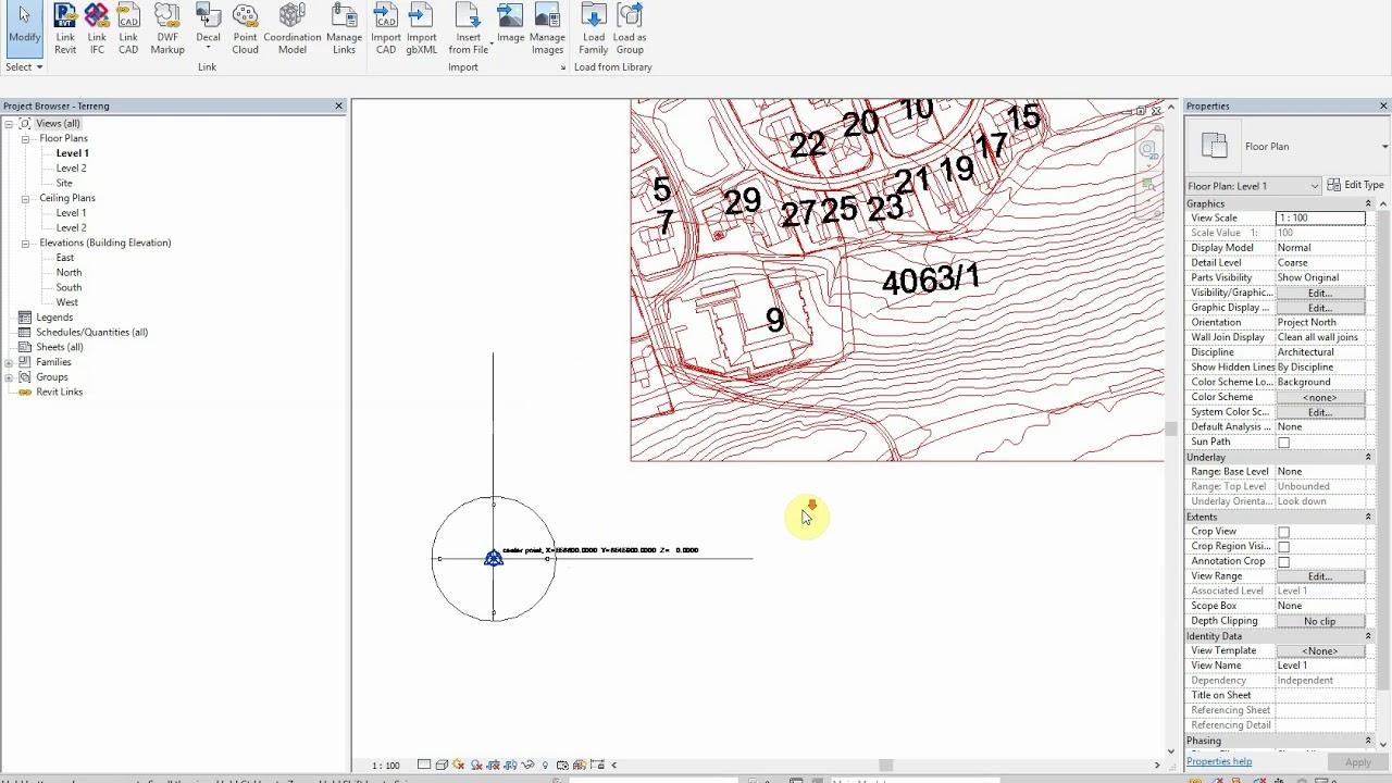 Kart Og Koordinater I Revit Youtube