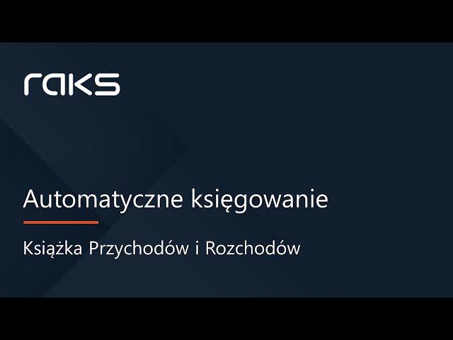 Automatyczne księgowanie dokumentów w Podatkowej Książce Przychodów i Rozchodów - KPIR.