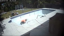 Time lapse of our pool renovation - Jan 2018