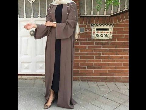 871fe7ce4 تصاميم عبايات راقية - احدث موديلات عبايات فخمة Modern abaya dress 2017 -  abaya fashion show