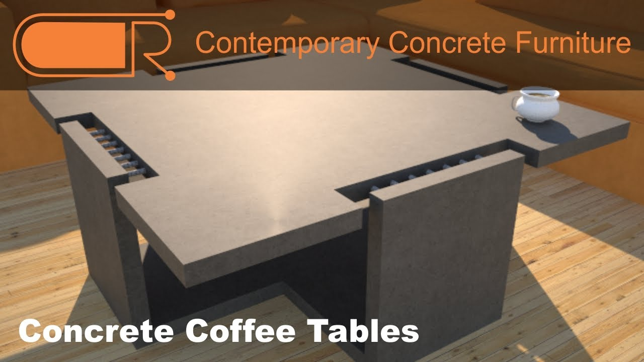 Concrete Coffee Table Concrete Furniture Designs By