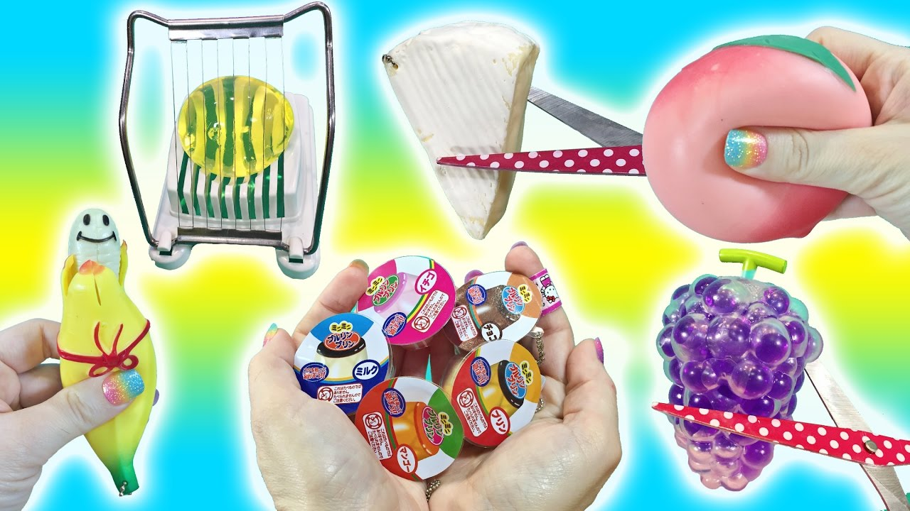 Squishy Toys Cutting : Cutting Open Squishy Food Toys! I Cut My Favorite Squishy! Jumbo Orbeez Egg Slicer Doctor Squish ...
