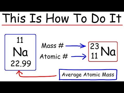 How To Calculate The Number of Protons, Neutrons, and Electrons - Chemistry