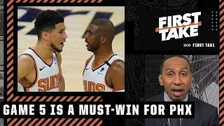 Game 5 is a must-win for the Suns - Stephen A. says the Finals is over if the Bucks win