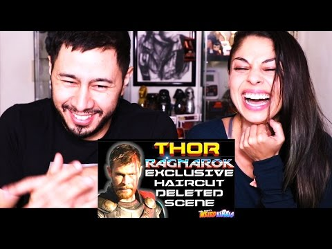 THOR RAGNAROK: EXCLUSIVE HAIRCUT DELETED SCENE | Reaction!