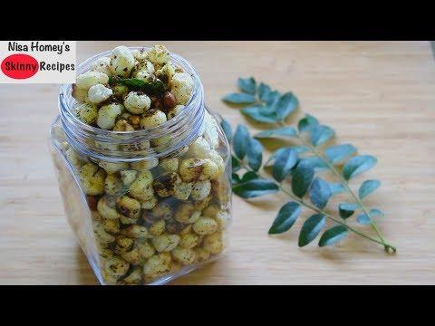 curry-leaves-masala-makhana-recipe---phool-makhana-|-roasted-lotus-seeds-namkeen---healthy-snacks