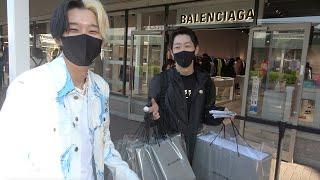 【たまにはご褒美】指を負傷したまえすを買い物に連れて行ってあげたらバレンシアガ爆買いしたww