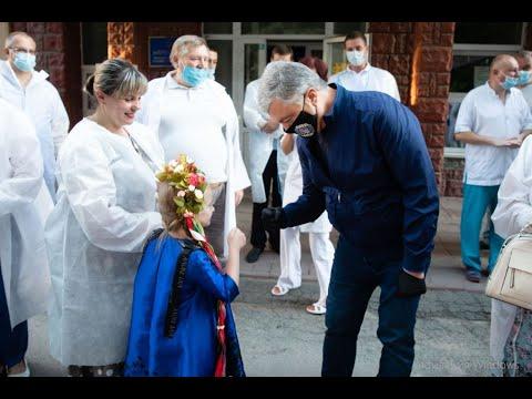 Петро Порошенко передав засоби захисту Вінницькій центральній районній клінічній лікарні