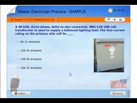 MASTER Electrician License Practice Exam - NEC 2017 - US States & Local Exam Boards.