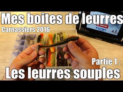 Mes Boîtes De Leurres - Carnassiers 2016 - 1/3 : Les Leurres Souples