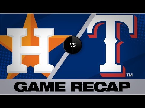 Santana's Walk-off Single Lifts Rangers Past Astros | Astros-Rangers Game Highlights 7/12/19