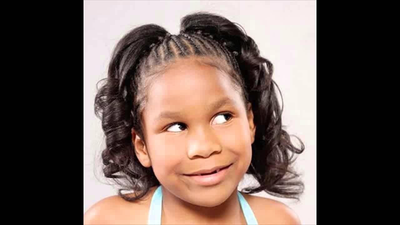 Hairstyles For Little Kids African American Little Girl Kids Ponytail Hairstyles Pictures