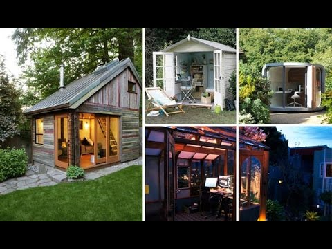 Beautiful Backyard Shed Office Design To Go To Work